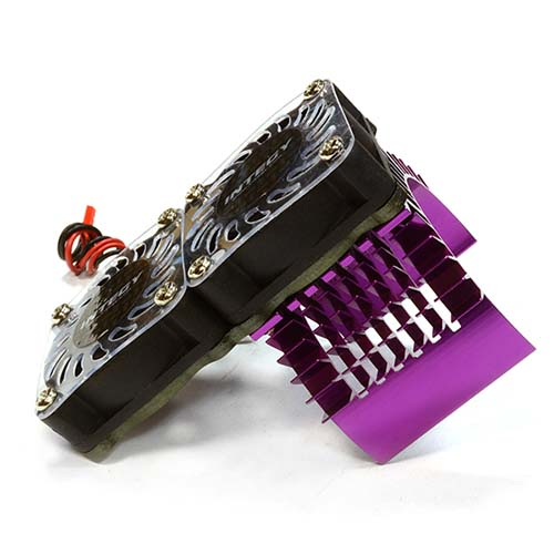 하비몬Super Motor Heatsink+Twin Cooling Fan 750 for Traxxas Summit (Purple)[상품코드]INTEGY