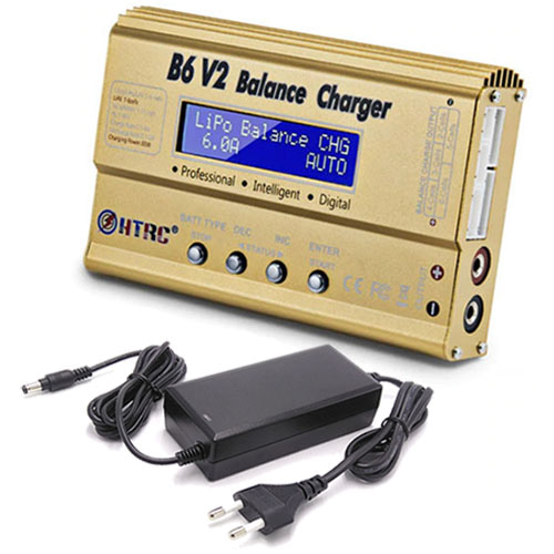하비몬B6 V2 Balance Charger 80W 6A w/12V 5A Power Supply[상품코드]-