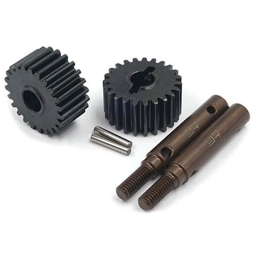 하비몬[2개] 23T HD Tool Steel Shaft & Steel Portal Drive Output Spindle Gear for Traxxas TRX-4[상품코드]YEAH RACING