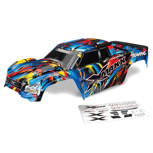 하비몬[#AX7711T] Body, X-Maxx®, Rock n' Roll (painted, decals applied) (assembled with tailgate protector)[상품코드]TRAXXAS