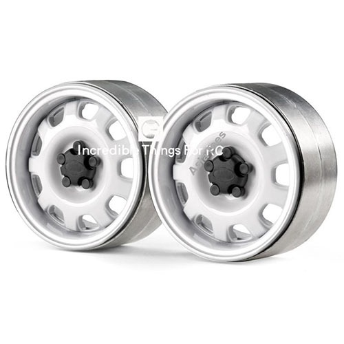 하비몬[#GRC/G0130K] 1.9 Metal Beadlock Wheel G10 (2) White[상품코드]GRC