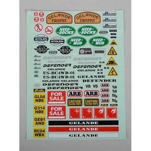 하비몬Gelande 2 Decal Sheet for Land Rover Defender D90 Hard Plastic Body Kit[상품코드]RC4WD