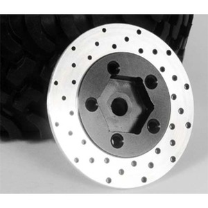 하비몬1.9 5 Lug Steel Wheel Hex Hub w/ Brake Rotor[상품코드]RC4WD