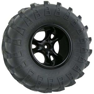 "하비몬""Clawz"" 2-2"" Wide Rock Crawler Wheels (Black) (2)[상품코드]RPM"