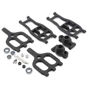하비몬T/E-Maxx True-Track Rear A-arm Conversion (Black)[상품코드]RPM
