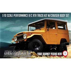하비몬1/10 Gelande II ARTR Truck Kit w/Cruiser Body Set - 송수신기 별도[상품코드]RC4WD
