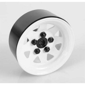 "하비몬[1개 낱개] 5 Lug Wagon 1.9"" Single Steel Stamped Beadlock Wheel (White)[상품코드]RC4WD"