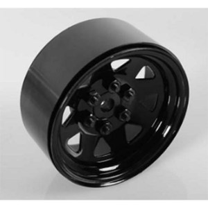 "하비몬[1개 낱개] 6 Lug Wagon 1.9"" Single Steel Stamped Beadlock Wheel (Black)[상품코드]RC4WD"