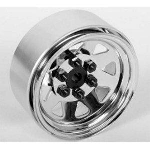 "하비몬[1개 낱개] 6 Lug Wagon 1.9"" Single Steel Stamped Beadlock Wheel (Chrome)[상품코드]RC4WD"