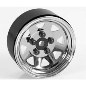 "하비몬[1개 낱개] 5 Lug Wagon 1.9"" Single Steel Stamped Beadlock Wheel (Chrome)[상품코드]RC4WD"