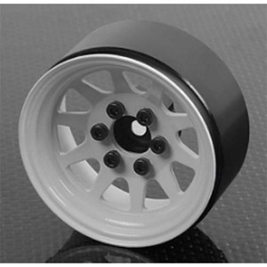 "하비몬[4개 한대분] OEM Stamped Steel 1.9"" Beadlock Wheels (White)[상품코드]RC4WD"