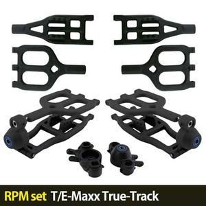 하비몬[RPM set] T/E-Maxx True-Track A-arms (Black)[상품코드]-