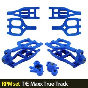 하비몬[RPM set] T/E-Maxx True-Track A-arms (Blue)[상품코드]-