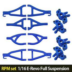 하비몬[RPM set] 1/16 E-Revo Full Suspension A-arms (Blue)[상품코드]-