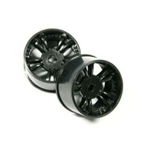 하비몬Black T.S. Type Wheel (W) For Mini-Z AWD (2* Offset)[상품코드]ATOMIC