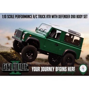 하비몬1/10 Gelande II ARTR Truck Kit w/Defender D90 Body Set - 송수신기 별도[상품코드]RC4WD