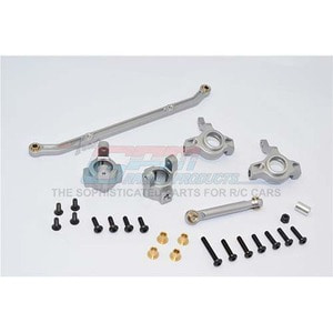 하비몬SCX10 Alloy Front C-Hub & Front Knuckle Arm (Toe-In 5 Deg.) & SCX160 Tie Rod[상품코드]GPM