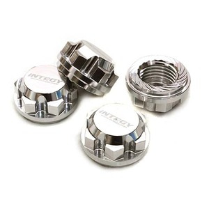 하비몬Billet Machined 17mm Hex Wheel Nuts (4) for Traxxas X-Maxx 4X4 (Silver)[상품코드]INTEGY