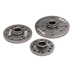 하비몬Alloy Servo Horn Full Circle 21mm, 26mm & 32mm Set (3) for 24T Servo (r=8-13mm) (Gun)[상품코드]INTEGY