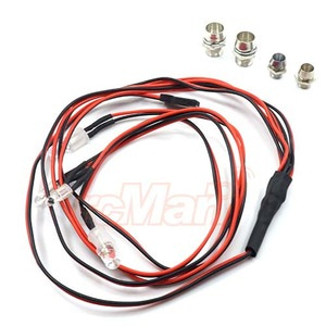 하비몬3mm 5mm LED Red & White Tail Light Indicator 4 LED For 1/10 On-Road Drift Car[상품코드]SLIDELOGY
