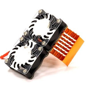 하비몬Super Motor Heatsink+Twin Cooling Fan 750 for Traxxas Summit (Orange)[상품코드]INTEGY