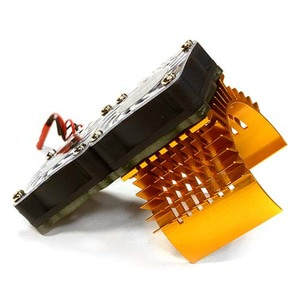 하비몬Super Motor Heatsink+Twin Cooling Fan 750 for Traxxas Summit (Gold)[상품코드]INTEGY