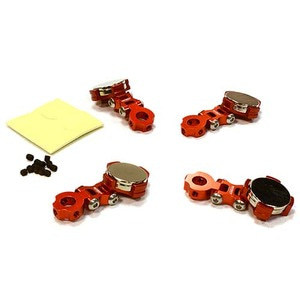 하비몬Billet Machined T2 Adjustable Stealth Body Mount Set for 1/10 Drift Touring Car (Red)[상품코드]INTEGY