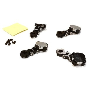 하비몬Billet Machined T2 Adjustable Stealth Body Mount Set for 1/10 Drift Touring Car (Black)[상품코드]INTEGY
