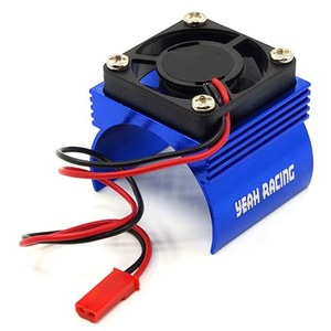 하비몬Aluminum 540 Motor Heat Sink w/ Cooling Fan Blue[상품코드]YEAH RACING