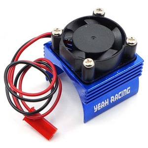 하비몬Aluminum 380 Motor Heat Sink w/ Cooling Fan Blue[상품코드]YEAH RACING