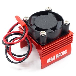 하비몬Aluminum 380 Motor Heat Sink w/ Cooling Fan Red[상품코드]YEAH RACING