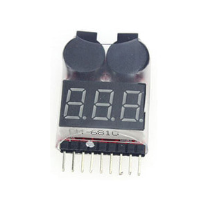 하비몬1~8S LIPO Voltage Tester/Low Voltage Buzzer Alarm(리포 알람/전압 확인)[상품코드]RCMON