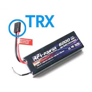 하비몬7.4V 6000mAh 40-80C Hard Case Lipo Battery (TRX잭)[상품코드]RFI BATTERY