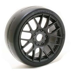 하비몬1:8 EXP GT Racing Silck Glued 40DEG Tire (Black Wheel)[상품코드]SWEEP