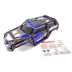 하비몬1/10 Summit Painted Body Shell w/ExoCage & Decal Sheet (Blue)[상품코드]TRAXXAS
