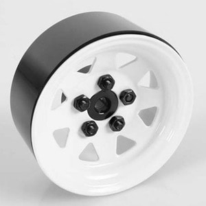 하비몬[4개 한대분] 5 Lug Wagon 1.9 Steel Stamped Beadlock Wheels (White)[상품코드]RC4WD