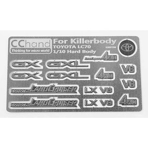 하비몬Metal Emblems for Toyota Killerbody LC70[상품코드]CCHAND