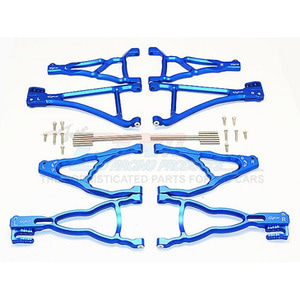 하비몬Revo/Summit Alum. Front+Rear Upper & Lower Suspension Arm - Blue[상품코드]GPM