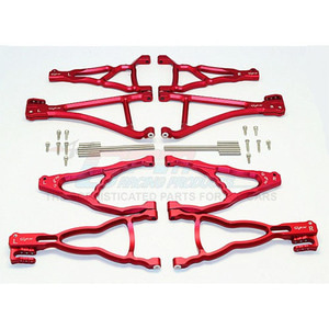 하비몬Revo/Summit Alum. Front+Rear Upper & Lower Suspension Arm - Red[상품코드]GPM