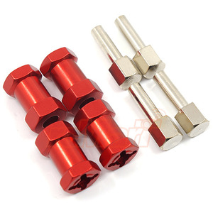 하비몬Alloy 20mm Offset Hex Adaptor For 12mm Hex Wheels Red 4pcs[상품코드]XTRA SPEED