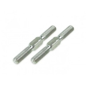 하비몬64 Titanium 3x25mm Turnbuckle 2 pcs Silver[상품코드]3RACING
