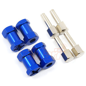 하비몬Alloy 20mm Offset Hex Adaptor For 12mm Hex Wheels Blue 4pcs[상품코드]XTRA SPEED