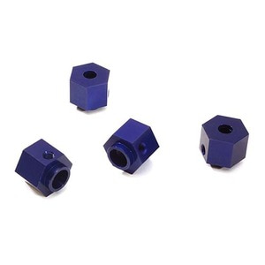하비몬Alloy Machined 12mm Hex Wheel (4) Hub 9mm Thick for Traxxas TRX-4 Scale Crawler (Blue)[상품코드]INTEGY