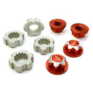 하비몬Billet Machined 24mm Wheel Adapters & 17mm Wheel Nuts for Traxxas X-Maxx 4X4 (Red)[상품코드]INTEGY