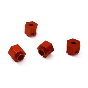 하비몬Alloy Machined 12mm Hex Wheel (4) Hub 9mm Thick for Traxxas TRX-4 Scale Crawler (Red)[상품코드]INTEGY
