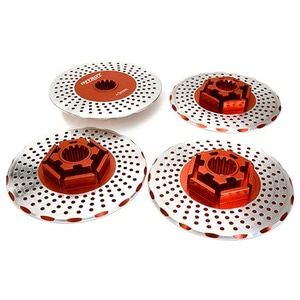 하비몬Realistic Alloy Brake Disc Set for Traxxas X-Maxx 4X4 (Red)[상품코드]INTEGY