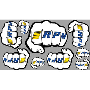 "하비몬RPM ""Fist"" Logo Decal Sheets[상품코드]RPM"