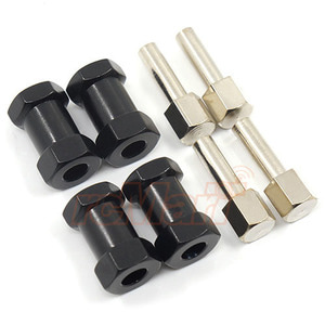 하비몬Alloy 20mm Offset Hex Adaptor For 12mm Hex Wheels Black 4pcs[상품코드]XTRA SPEED