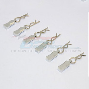 하비몬Body Clips + Aluminium Mount for 1/10, 1/8 Models (6ea)[상품코드]GPM