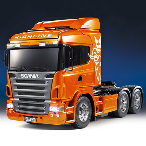 하비몬[#TA23689-600] 1/14 Scania R620 6x4 Highline - Full Op. Finished (Metallic Orange)[상품코드]TAMIYA